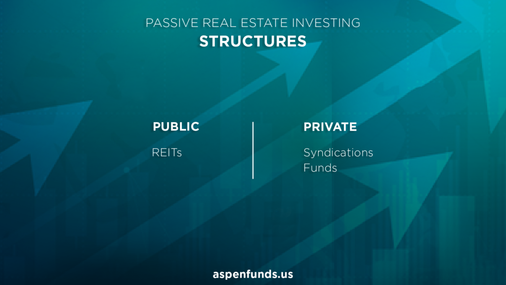 Structures of passive real estate investments